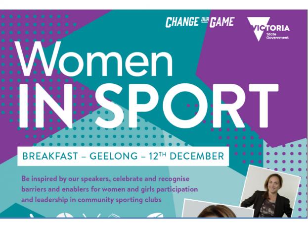 women in sport breakfast flyer