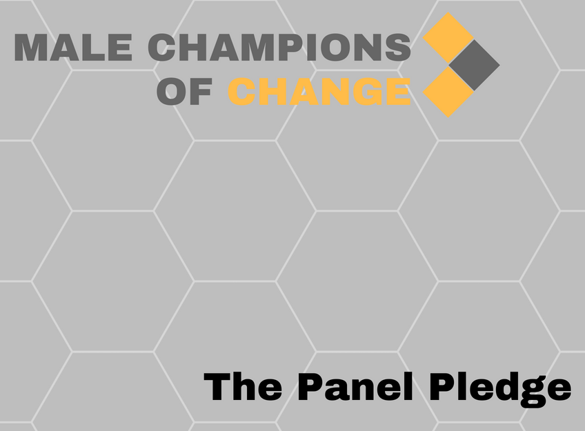 branded tile titled - Male Champions of Change: The Panel Pledge