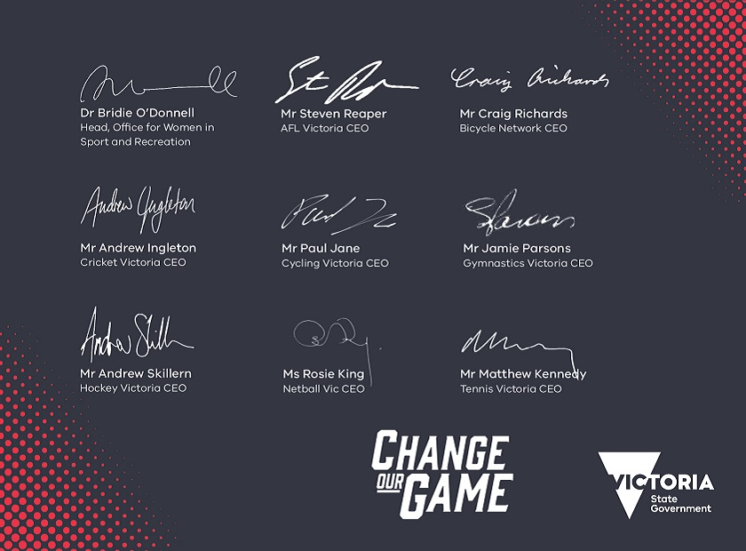 Change our Game Champion Signatures
